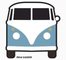 Split VW Bus Front Blue by Frank Schuster