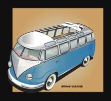 Old Style Barndoor Bus Blue by Frank Schuster