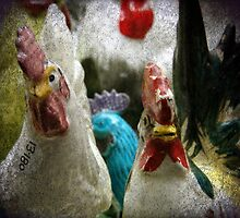 Antique Chickens by angelandspot