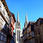 cathedral in Quimper by Elie Le Goc