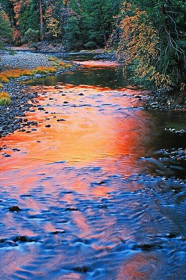 REFLECTION OF EL CAPITAN IN MERCED RIVER by Chuck Wickham
