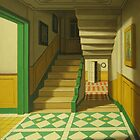 Interior in green by yacov gabay