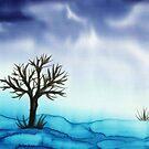 Landscape in Blue  by Caroline  Lembke