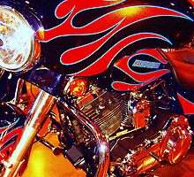 Harely Hog Flames Horo by rtographsbyrolf