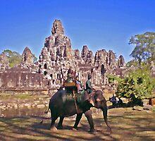 Bayon Elephant Ride by Mike Mahalo