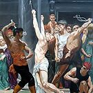 The Flagellation of Our Lord Jesus Christ after W. Bouguereau by Hidemi Tada