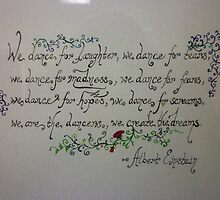 Albert Einstein Quote, Close-Up by Works By  Barbara