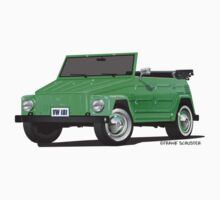 VW Volkswagen Thing Convertible Green by Frank Schuster