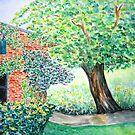 Old Walnut Tree  by Caroline  Lembke