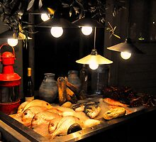 SKIATHOS - Fish display  at a Restaurant entance  by Daniela Cifarelli