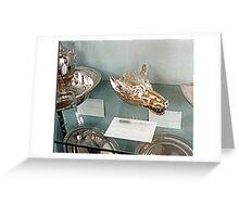 Silver-plate  Laarne Castle - Belgium - Wolf beaker Greeting Card