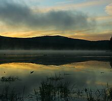Mist on Georgetown Lake by Ken McElroy