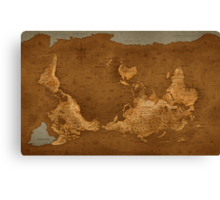 World Map - Upside Down Canvas Print