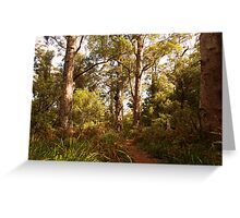 Walking through the valley of Giants Greeting Card
