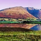Blencathra reflected in Tewet Tarn by AJ Airey