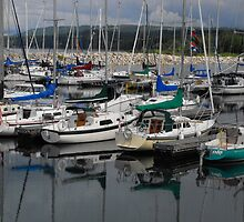 Meaford Harbour- Storm Coming In by Tracy Faught