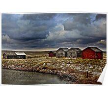 Wooden Grain Bins of Alberta Poster