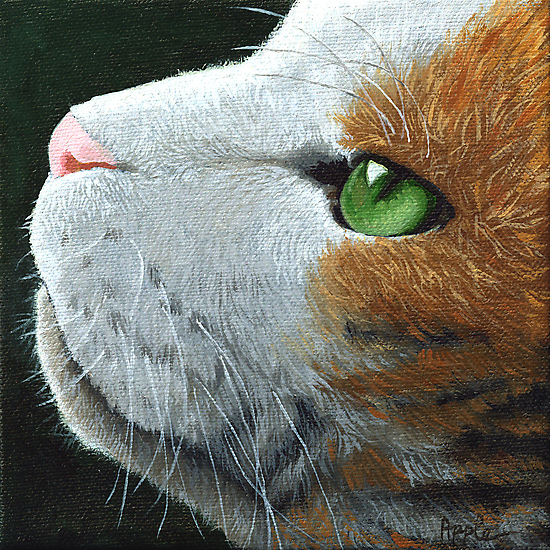 Max - the cat - portrait by LindaAppleArt