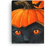 Bats in the Belfry? - halloween painting Canvas Print