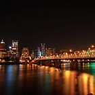 Portland Skyline at Night by davidgnsx1
