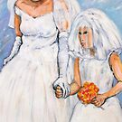 Bride and Flower Girl by Reynaldo