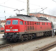 The railroad engine of the class 234 of German railways. by trainmaniac