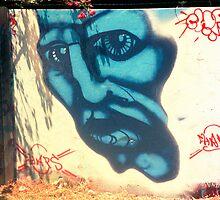 blue as my blue face by Juilee  Pryor