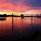 Sunset on the Mersey River  by Mary Trebilco