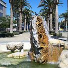 Superb fountain in Oakland by daffodil