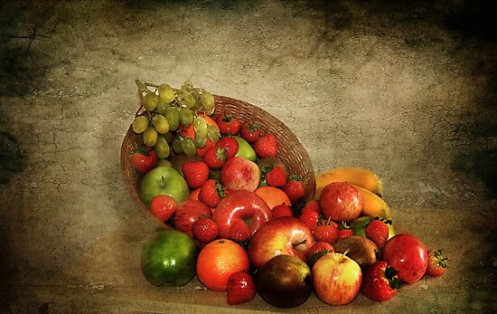 Fruit Basket . by Irene  Burdell