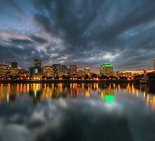 Portland Skyline at Dusk by davidgnsx1