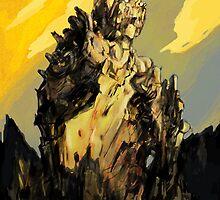 The Golden Ruin (a stranded colossus) by Matt Thurston