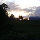 Sunset behind the Barn by Jaclyn Hughes