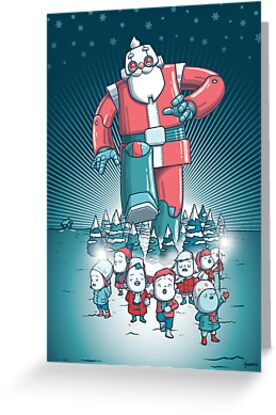 Robo-Santa Card by hammo