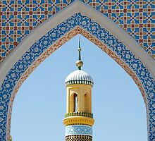 Minaret in Kashgar by joewdwd