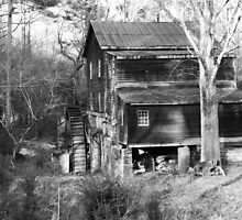 """""""Freeman's Mill In Black and White"""" by franticflagwave"""