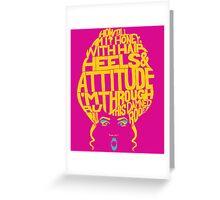 RuPaul Poster Greeting Card
