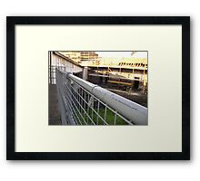 Lines Made Real (metal handrail & roofers' scaffolding) Framed Print