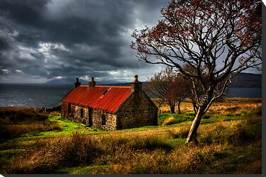 Ruin at Suisinish, Isle of Skye. North West Scotland. by photosecosse /barbara jones