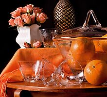 The Party with Punch Bowl & Oranges by Rachel Slepekis