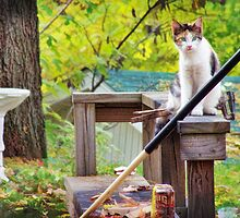 Helping With the Yardwork by Nadya Johnson