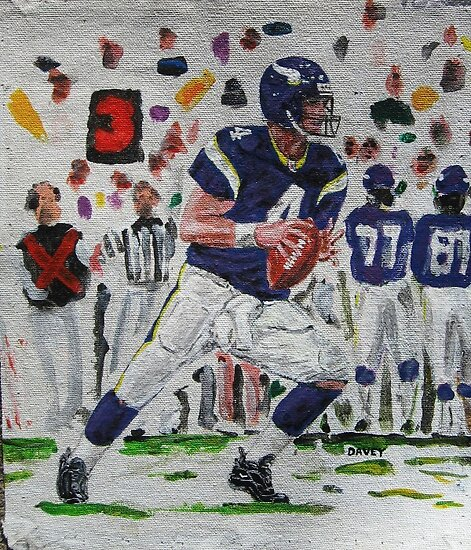 Brett Favre....Set to throw ....Vikings by yevad98