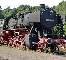 Steam locomotive of the class 53 of German railways by trainmaniac