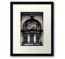 The Future is Now, Forget the Past, Liverpool Framed Print