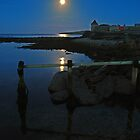 Moon rise over Sandlodge, Sandwick by ShroomIllusions