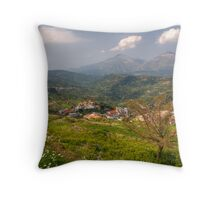 Axos from its acropolis Throw Pillow