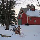 barn in winter by Lynne Prestebak