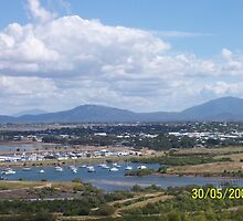 Flagstaff Hill, Looking down onto Bowen, North Queensland, Australia by Emma Delladio