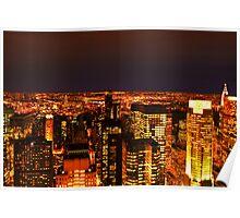 Ocean of Light, New York City, USA Poster