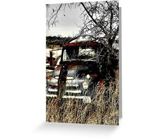 Ole Beater Truck ~ (BoneYard Series) Greeting Card